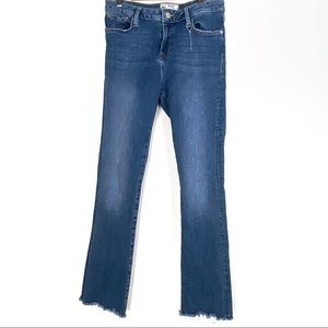 FREE PEOPLE skinny jeans 28 raw hem high rise b606